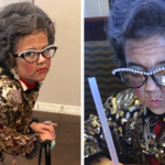 This Girl Asked Her Mom To Become A 100 Y.O. Lady For A 100 Day Kindergarten Party, Mom Delivered