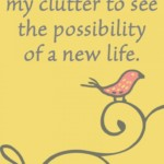 I look beyond my clutter to see the possibility of a new life.
