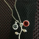 Rose necklace with Multiple Birthstones
