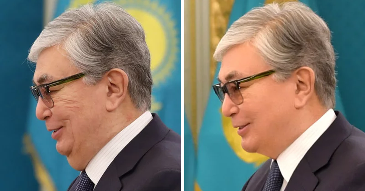 Kazakhstan Gets Caught Photoshopping Official Photos Of Its New Leader
