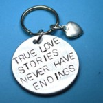 Keychain for Boyfriend Sale True love stories never have endings Keyring, Christmas gift for Boyfriend, Long distance boyfriend gift
