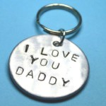 I Love You Daddy Keychain