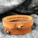 Leather bracelet for men Christmas gift idea for Boyfriend