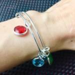 Personalised Bracelet, Birthstone Bracelet for women, Bangle Bracelet, Mothers day gift, Women Bracelets, Birthday gift for wife, Bangles