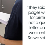 Students Get 250 Pages To Print For Free, But Can't Redeem Them As Blank Paper, So 2 Guys Printed Blanks