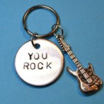 You rock keyring with Guitar charm