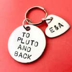 Keychain To Pluto and Back Personalised gift