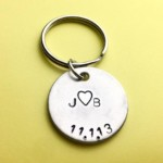 Date and Initials Keychain for anniversary