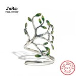 Tree sterling silver ring adjustable jewelry