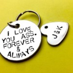 Boyfriend Christmas gift on sale, funny rude I love you, Personalise keychain