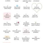 30 days of happiness challenge where you do things for yourself and others and end up being happier and more positive!