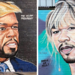 Street Artist Lushsux Is Doing Hilarious Mashup Portraits Of 50 Cent And Other Celebrities, And The Rapper Notices