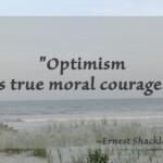 """""""Optimism is true moral courage."""" ~Ernest Shackleton"""