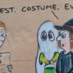 19 Halloween-Themed Dad Jokes And Puns That I Drew On My Daughters' Sandwich Bags