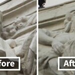 Somebody Pulled A 'Not My Job' On This 1923 Statue During Its Restoration