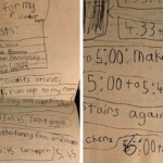 Woman Shares The Slumber Party Plan She Made When She Was 8 And 220k People Love It